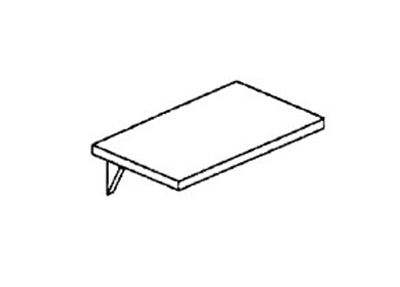 Piper Products RSES Drop Type End Shelf, 18x30-