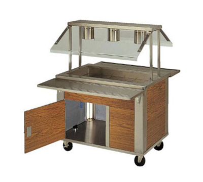 Piper Products 2-CM Enclosed Well Cold Food Unit w/ 2-Pan Capacity, Mechanically Cooled