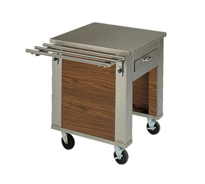 Piper Products 2-CD 30-in Mobile Cashier Serving Counter w/ Locking Drawer, Modular, Stainless