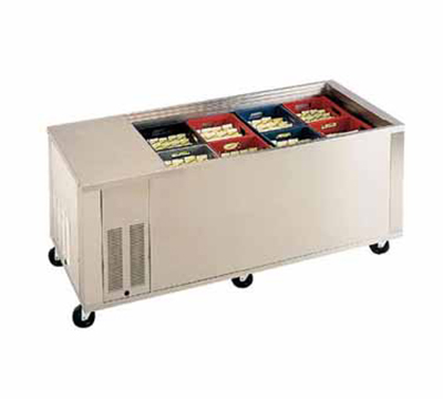 Piper Products BMD-8 51.12-in Mobile Milk Cooler Serving Counter w/ 8-Crate Capacity, Modular