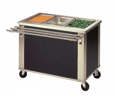 Piper Products 2-HF 32-in Mobile Hot Food Unit w/ 2-Wells, 1000w Elements, Stainless, Modular