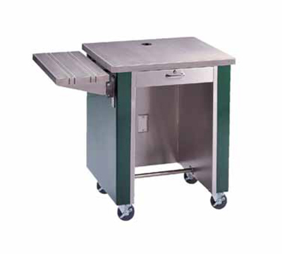 Piper Products R2-CS WHT 36-in Cashier Stand w/ Drawer & Lock, Open Body, Mobile, Modular, White