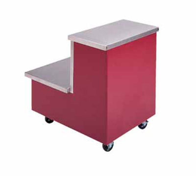 Piper Products R2-TS 5021 36-in Enclosed Base Tray Stand, Step Unit, Mobile Modular, Water Blue