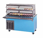 Piper Products R2-CM 5012 Refrigerated Cold Pan Unit w/ 2-Pan, Enclosed Base, Mobile, Modular, Light Blue