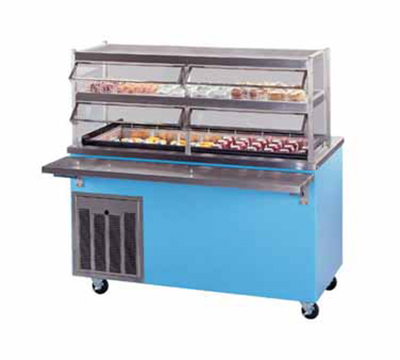 Piper Products R6-FT BLK 96-in Mobile Top Serving Cou