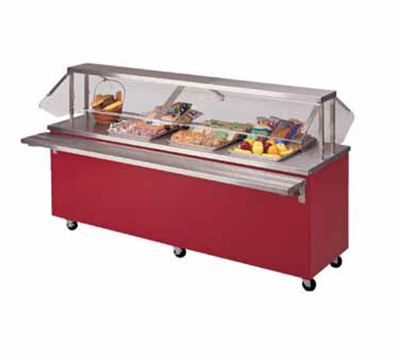 Piper Products R3-ST BLK 50-in Mobile Solid Top Serving Counter w/ Enclosed Base, Modular,