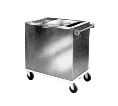 Piper Products ICE-2 Mobile Ice Bin w/ 175-lb Capacity, Insulated, Sliding Cover, Stainless