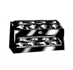 Piper Products P-8 Silverware Dispenser w/ 8-pan Capacity, Pans Included, Stainless