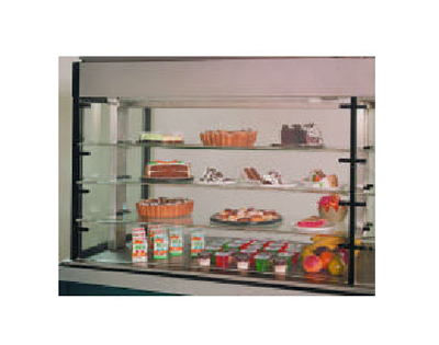 Piper Products PDR-1 53.12-in Drop-In Cold Food Display Case w/ 3-Intermediate Glass Shelves