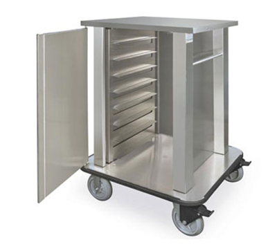 Piper Products TQM2-N16 Hospital Tray Delivery Cart w/ 16-Tray Capacity, Double Compartment, Stainless