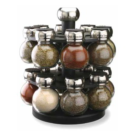 "Olde Thompson 25616SS 10"" Spice Rack - 16-Jars"