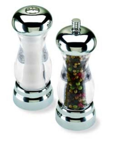 Olde Thompson 35592700 Peppermill/Salt Shaker Set, Del Sol, Clear Ac