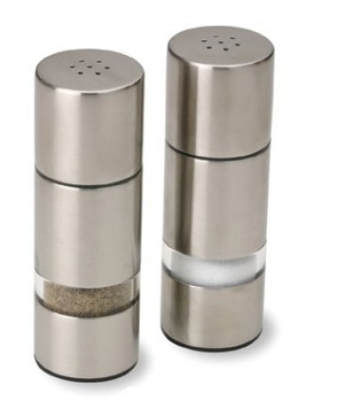 Olde Thompson 3725-00 Euro Salt & Pepper Shaker Set, 4.5