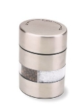 Olde Thompson 5080-00 Salt & Pepper Mill Combination, 4-in, Stainless, Filled