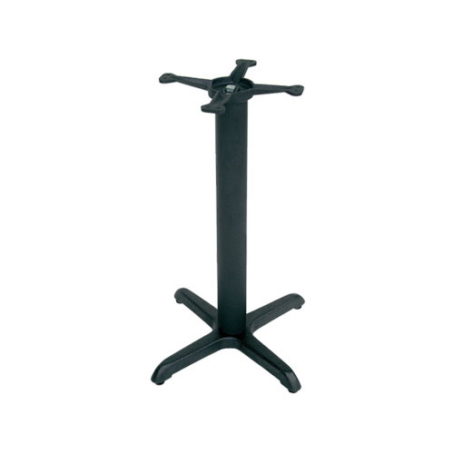 "John Boos 2025B 30"" Table Base for 36-42"" Tops - 18"" Spider, 28"" H, Cast Iron"
