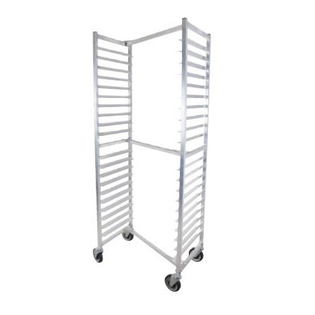 John Boos ABPR-1820-ZNS Nesting Top Mobile Pan Rack w/ 20-Pan Capacity & 3-in Pan Spacing, Aluminum