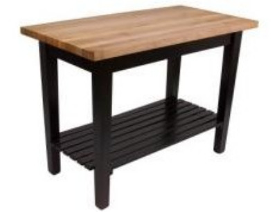 John Boos C4824SBK Classic Country Hard Maple Table, 48 x 24 x 36-in H, Black
