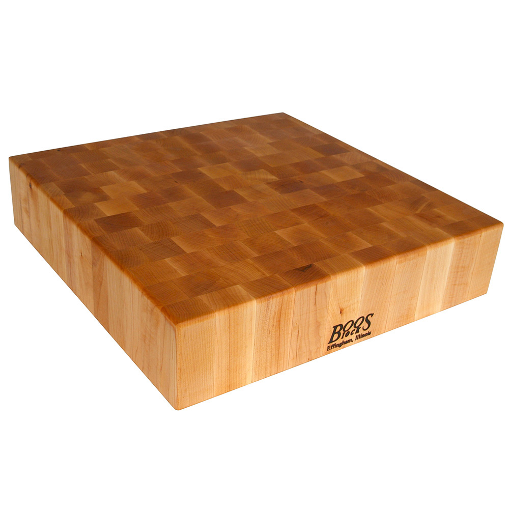 John Boos CCB24-S Chopping Block, 24 x 24 in, 4 in Hard Rock Maple End Grain