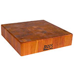 John Boos CHY-CCB143-S Cherry Wood Chopping Block, Non-Reversible, 14 in Square 3 in End Grain