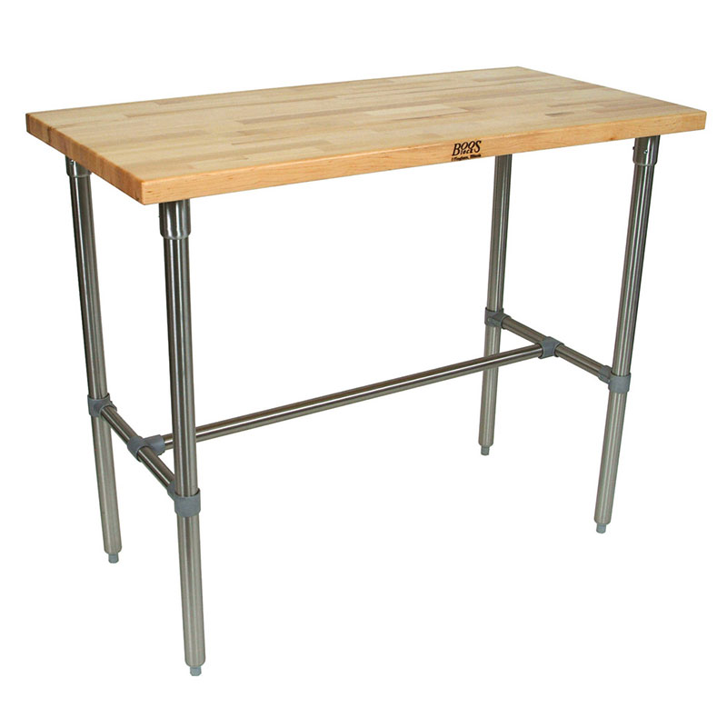 John Boos CUCNB08-40 Cucina Americana Classico Table, Hard Maple, 48 x 30 x 40-in H