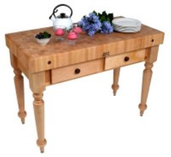 John Boos CUCR04SHF Cucina Rustica Table, 4 in End