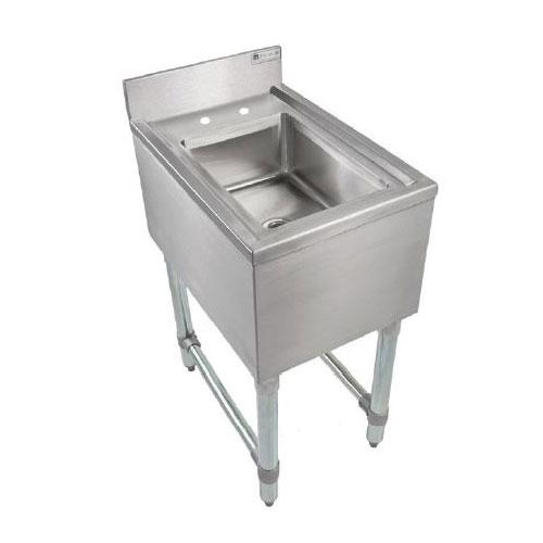 John Boos EUBDS-1014-P Underbar Dump Sink w/ 14 x 10 x 6-in Bowl, 21 X 14-in