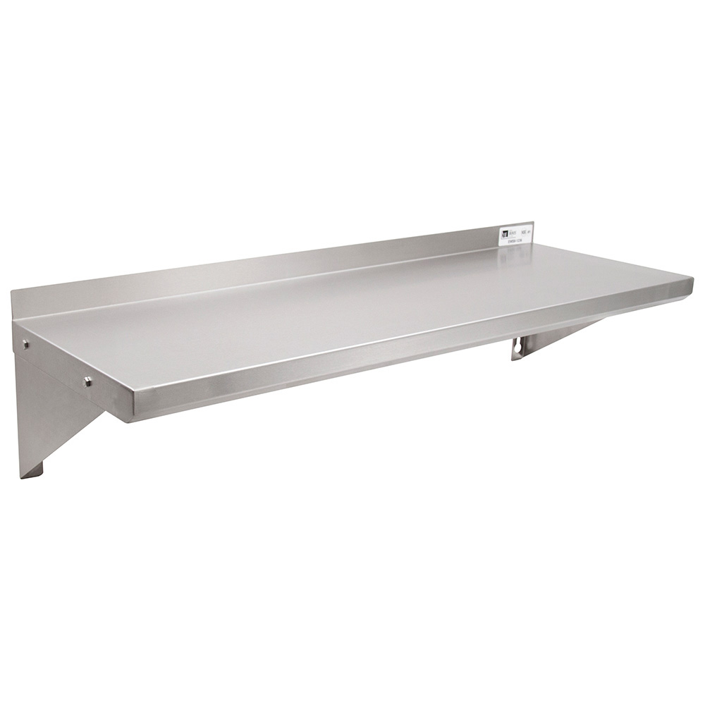 John Boos EWS8-1224 Wall Shelf w/ 1.5-in Rear High Riser, 24 x 12-i