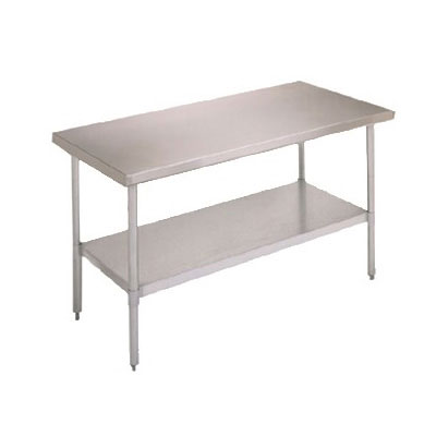 "John Boos FBLG3618 Work Table - Adjustable Galvanized Undershelf, 36x18"", 18-ga Stainless"