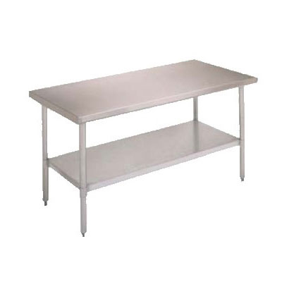 "John Boos FBLS2418 Work Table - Adjustable Undershelf, 24x18"", 18-ga S"