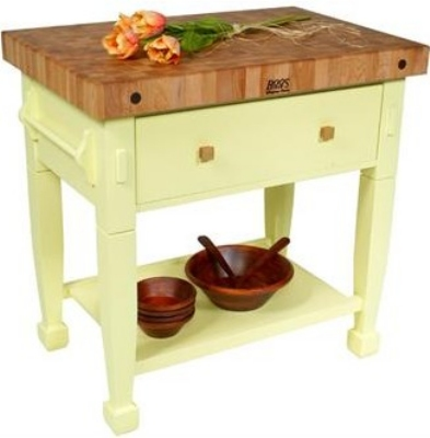 John Boos JASMN24243-D-S S Jasmine Hard Maple Table, 24 x 24-in, Sage Green