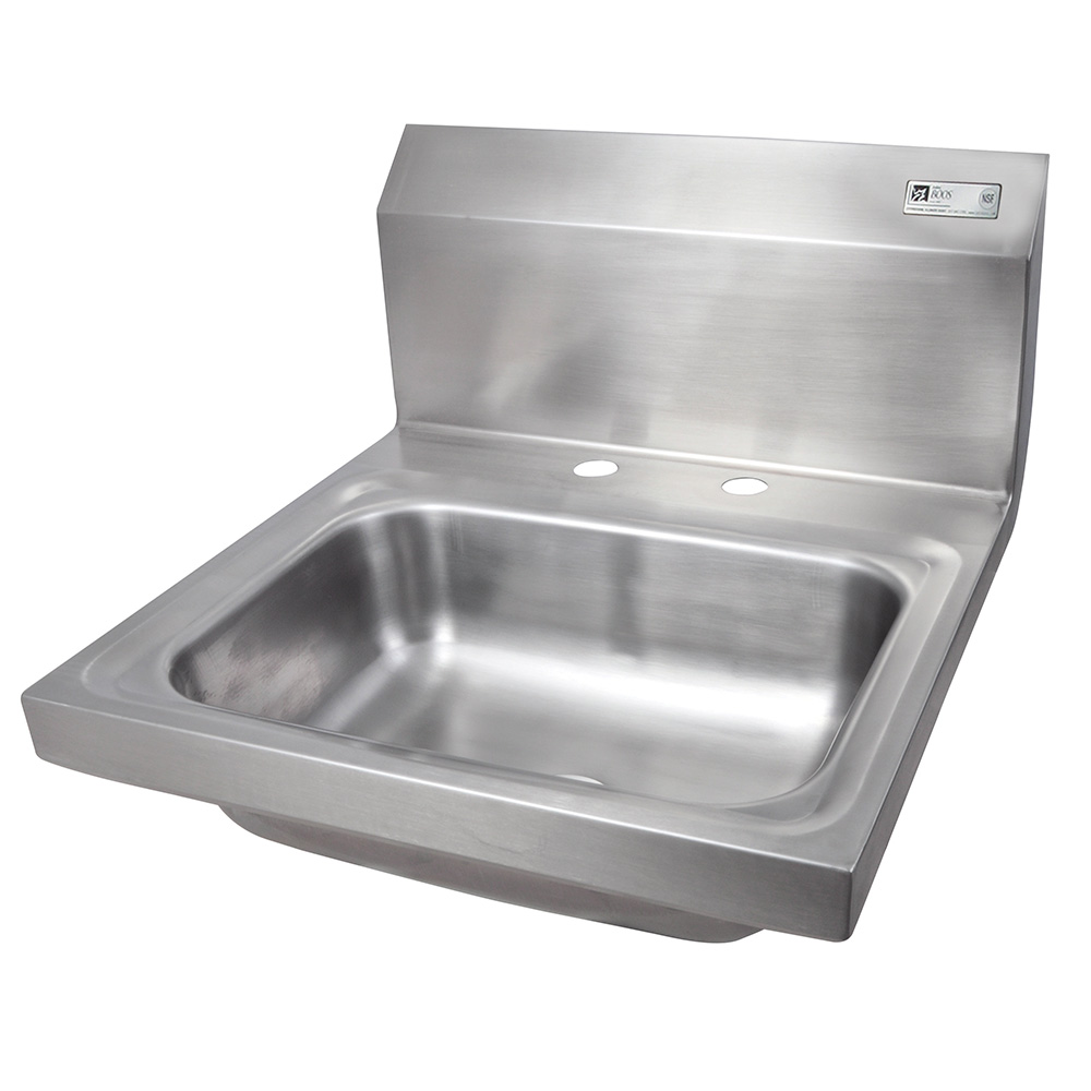 John Boos PBHS-W-1410-2DM Deck Mount Hand Sink, 4-in On-Center, 14 x 10 x 5-in