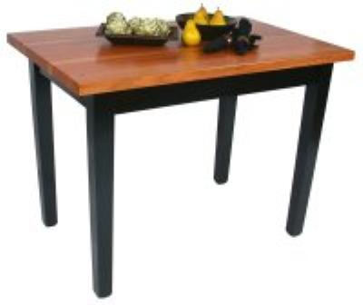 John Boos RN-C6024 Le Classique Table, 1-1/2 in Edge Grain Americ