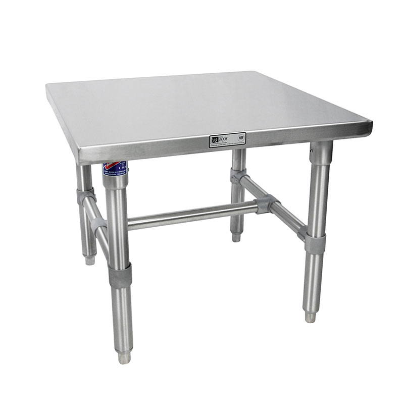 John Boos S16MS02 Machine Stand w/ Galvanized Legs & Bracing, 24 x 24-in