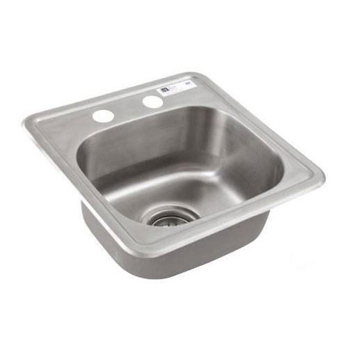 John Boos SK01 Drop-In Sink, Deck Mount, 12.5 x 10.5 x 6-in