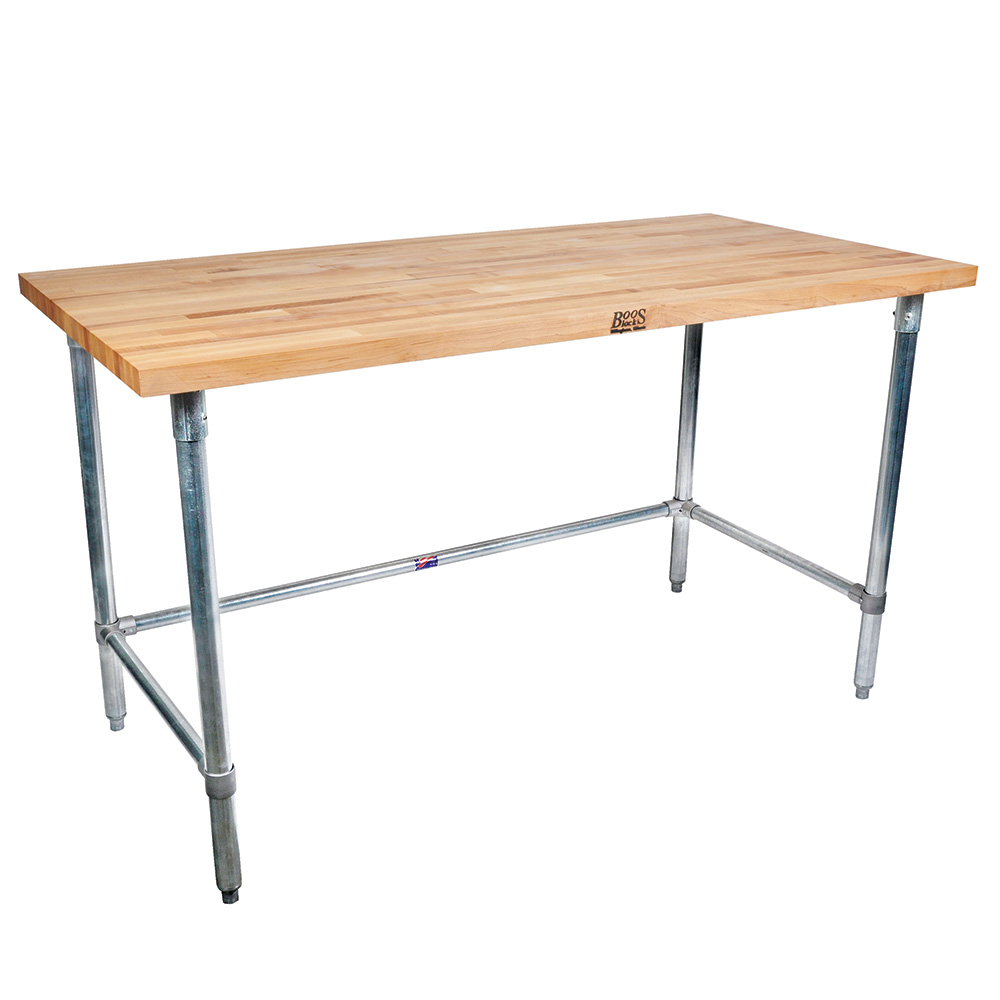 "John Boos SNB11 Work Table - 1-3/4"" Maple Top, 96x30&q"