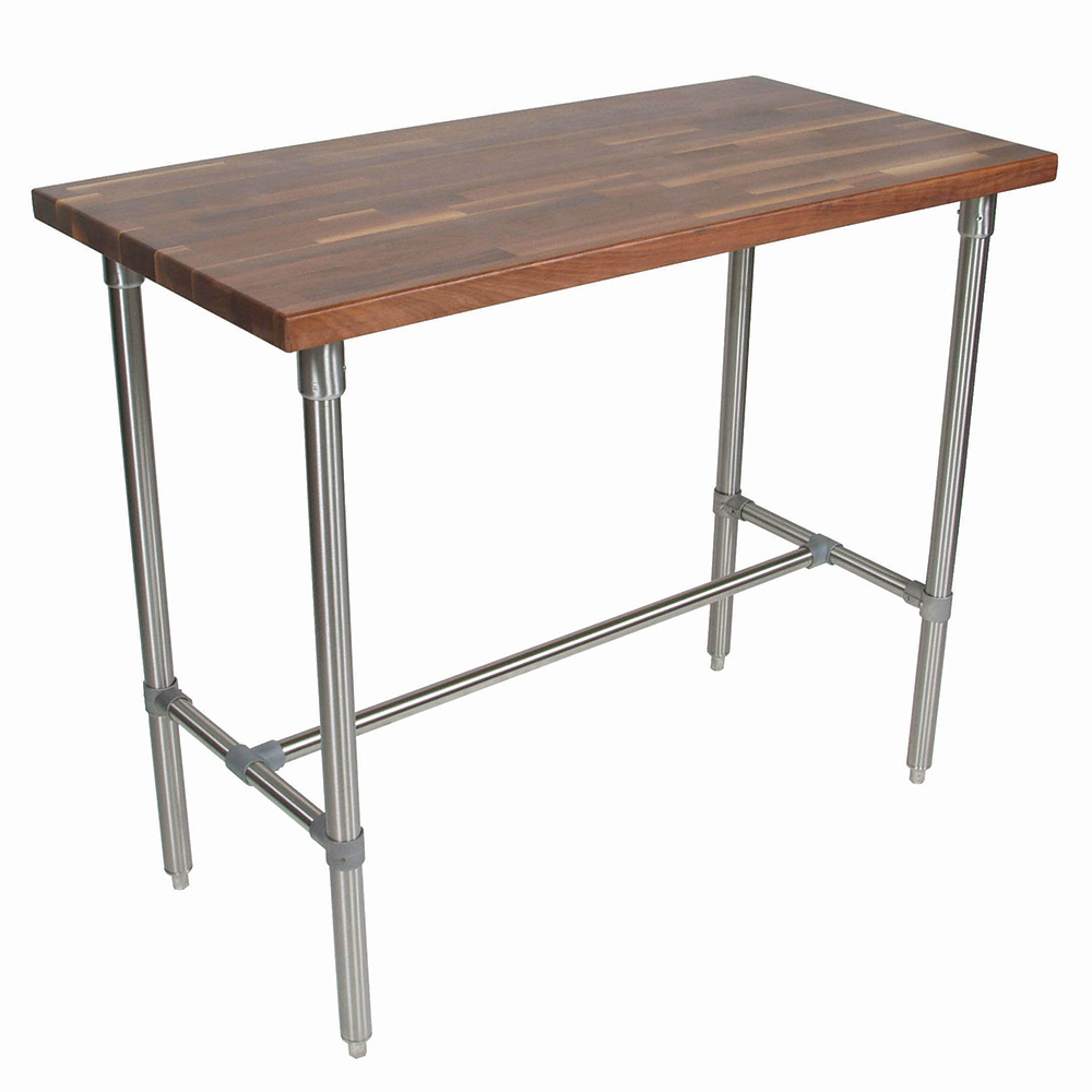 John Boos WAL-CUCKNB430-40 Cucina Americana Classico Table, Walnut, 48 x 30 x 40-in H