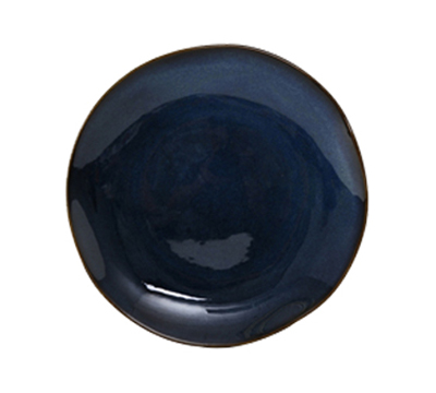 "Tuxton GAN-005 9"" Round Ceramic Plate - Night Sky"