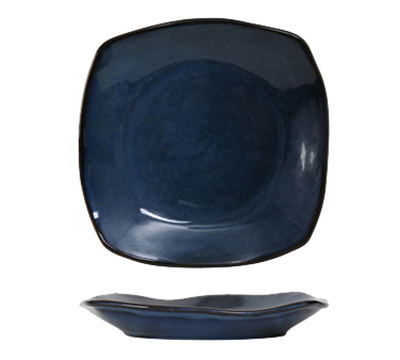 Tuxton GAN-503 21-oz Square Ceramic Pasta Plate - Night Sky