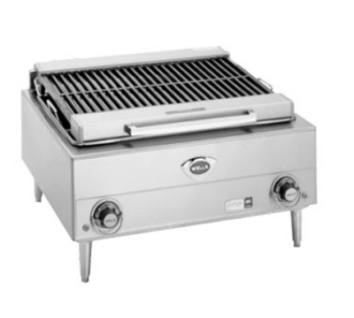 Wells B-40 240 24-in Charbroiler w/ Cast Iron Grates, 240/3 V