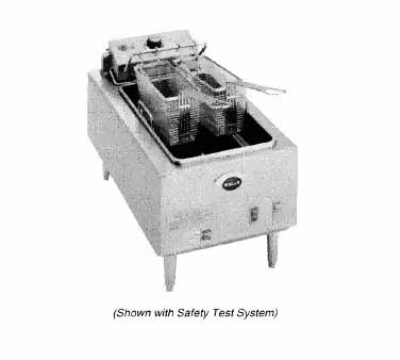 Wells F-55 240 15-lb Fryer w/ Twin Baskets & Thermostatic Control, 240/1 V