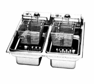 Wells F-676 208 30-lb Fryer w/ Dual Pots & Therm