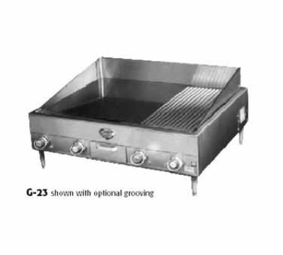 Wells G-23 240 34-in Griddle, .5-in Steel Plate, Thermostatic, 24-in Deep, 240/3V