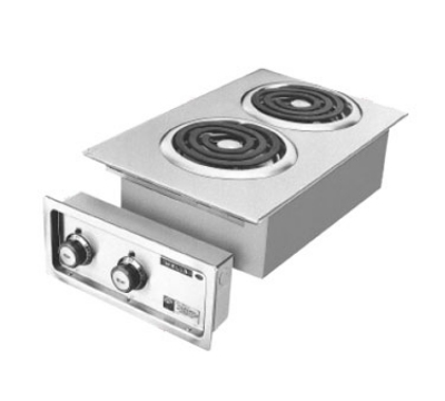 Wells H-636 Built In Hot Plate w/ Two Flat Spiral Elements, 208/240/1 V