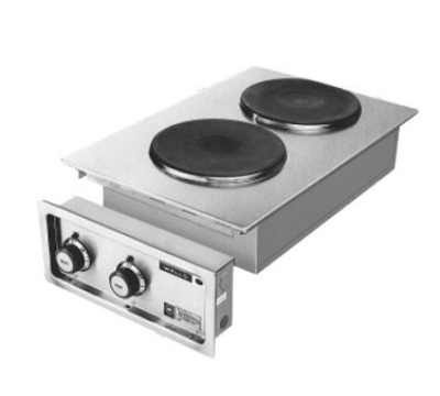 Wells H-706 208240 Built In Hot Plate w/ Two Solid Cast-I