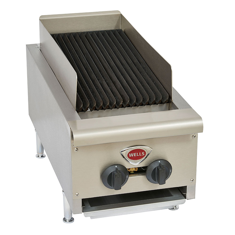 Wells HDCB-1230G 12-in Radiant Charbroiler w/ Cast Iron Grates, LP/NG