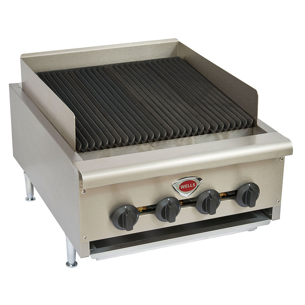 Wells HDCB-2430G 24-in Radiant Charbroiler w/ Cast Iron Grates, LP/NG