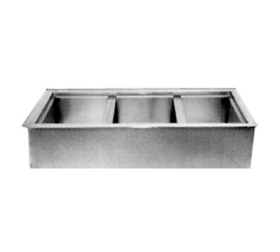 Wells ICP300 Drop In Iced Cold Pan w/ Drain, 3-Pan, Insulated