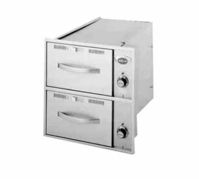 Wells RWN-26 2-Drawer Narrow Warming Unit For Built In Use, 208/240/1 V