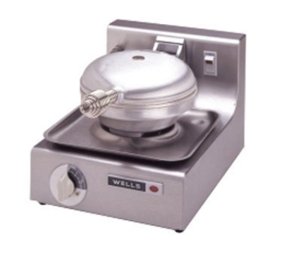 Wells WB1 Single Round Waffle Baker w/ Thermostatic Control, Export