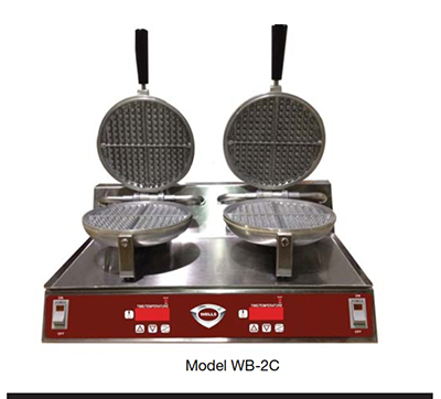 Wells WB1C Single Round Waffle Baker - Electronic Controls, Aluminum Grids, Stainless, 120v